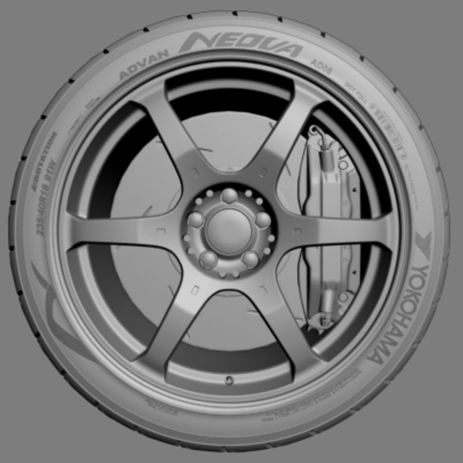 Volk Racing G2 Wheel royalty-free 3d model - Preview no. 2
