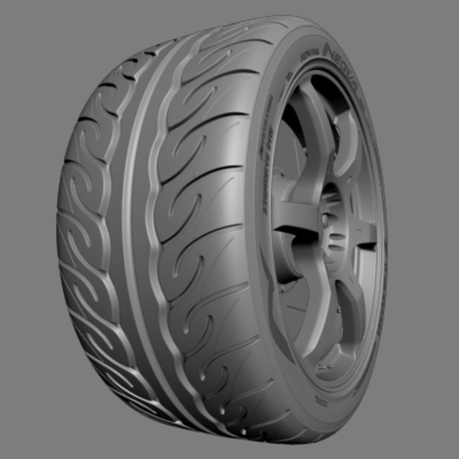 Volk Racing G2 Wheel royalty-free 3d model - Preview no. 3