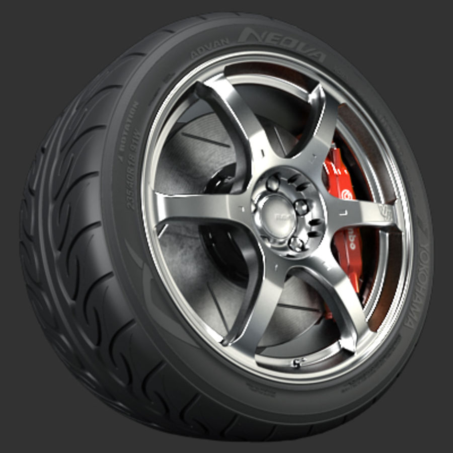 Volk Racing G2 Wheel royalty-free 3d model - Preview no. 1