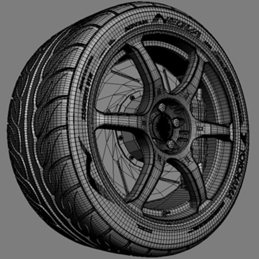 Volk Racing G2 Wheel royalty-free 3d model - Preview no. 5