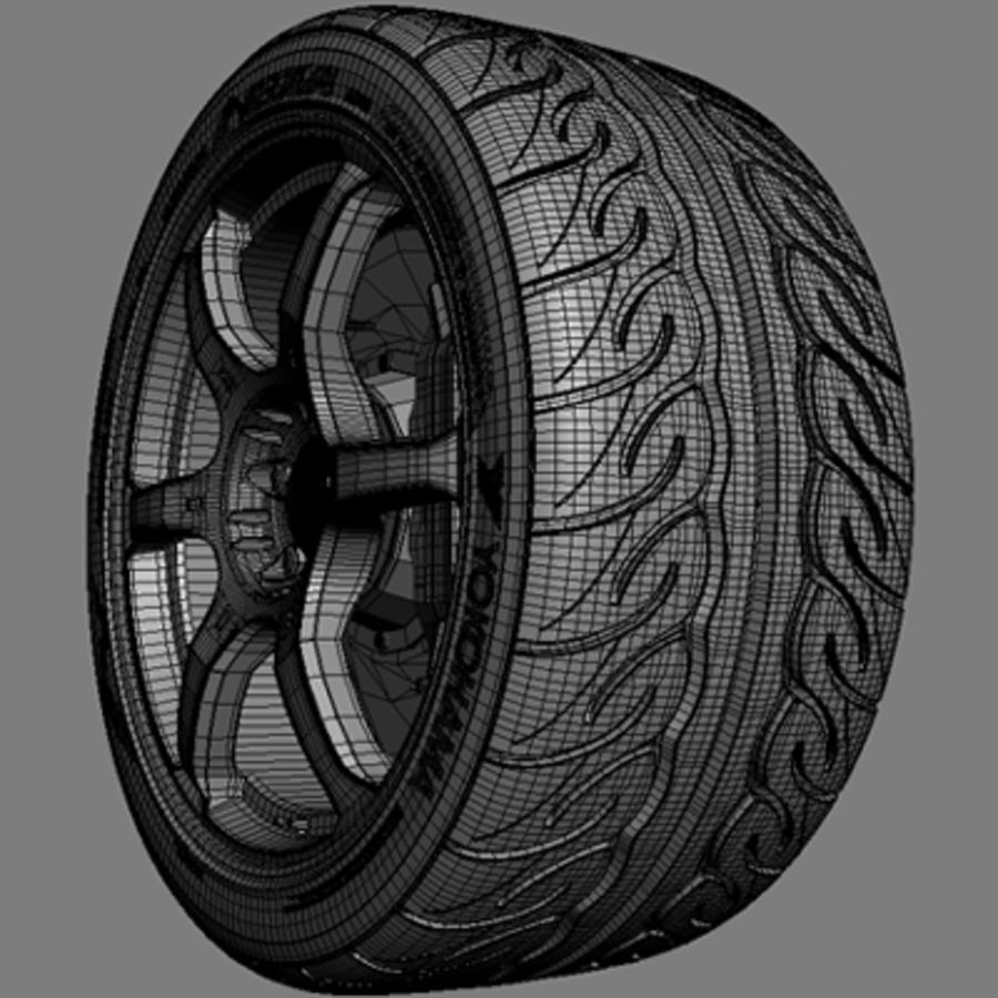 Volk Racing G2 Wheel royalty-free 3d model - Preview no. 7