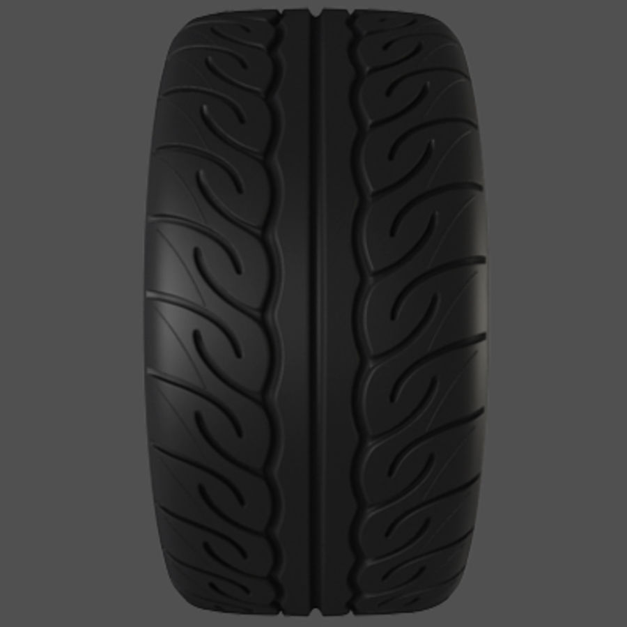 Volk Racing TE37 Wheel royalty-free 3d model - Preview no. 8