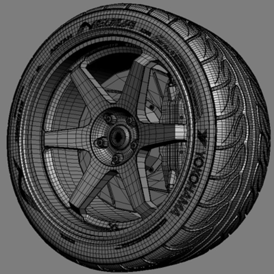 Volk Racing TE37 Wheel royalty-free 3d model - Preview no. 5