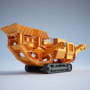 Construction equipment - Crusher01 3d model