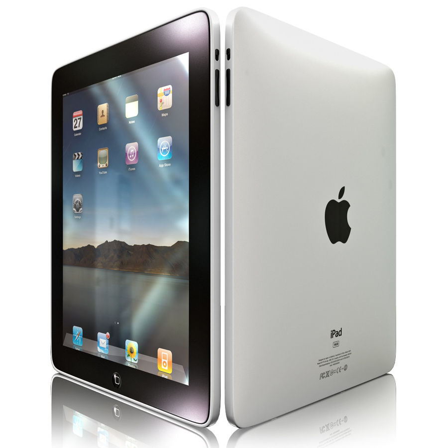 Apple iPad royalty-free 3d model - Preview no. 2