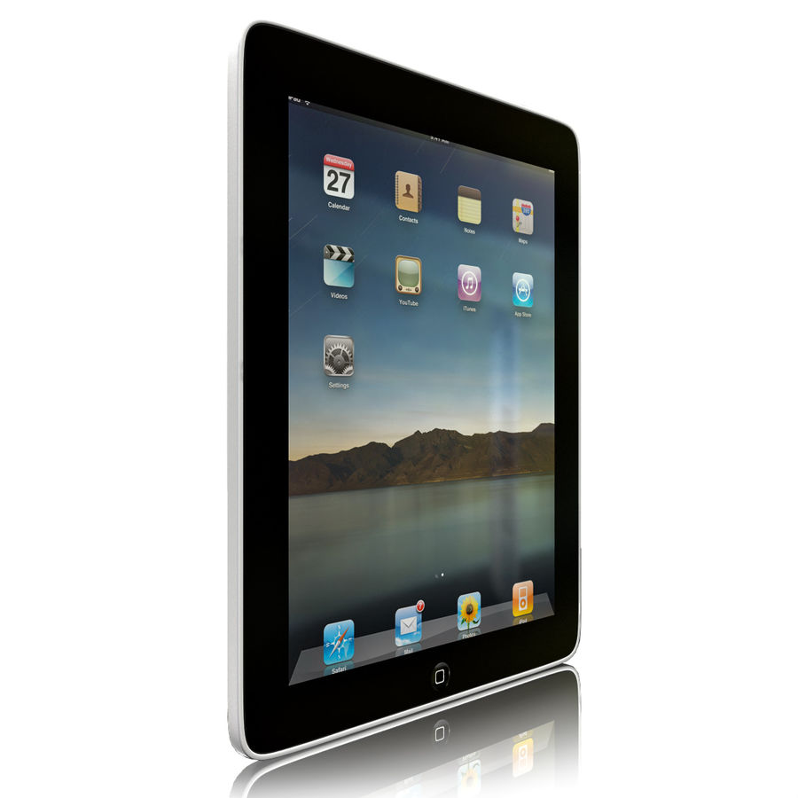 Apple iPad royalty-free 3d model - Preview no. 5