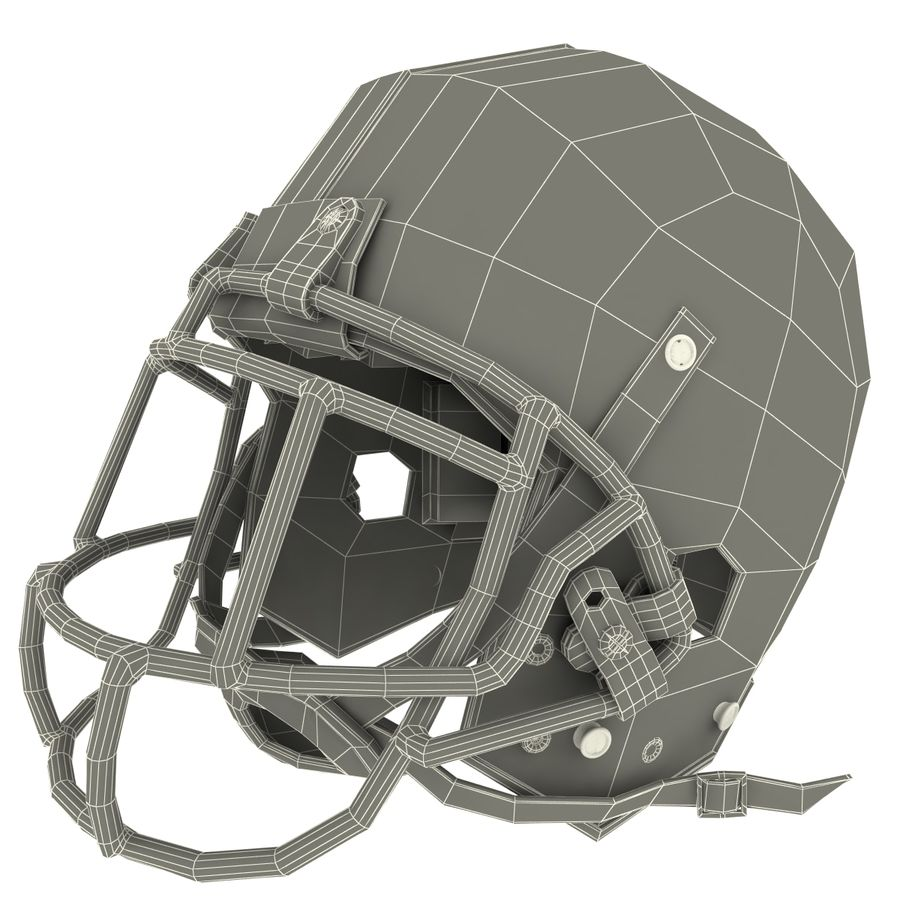 Football Helmet royalty-free 3d model - Preview no. 13