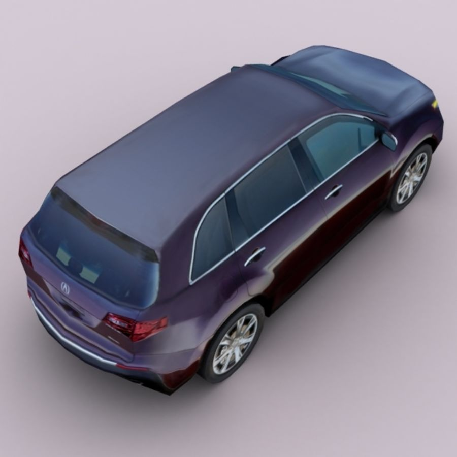 2010 Acura MDX royalty-free 3d model - Preview no. 3