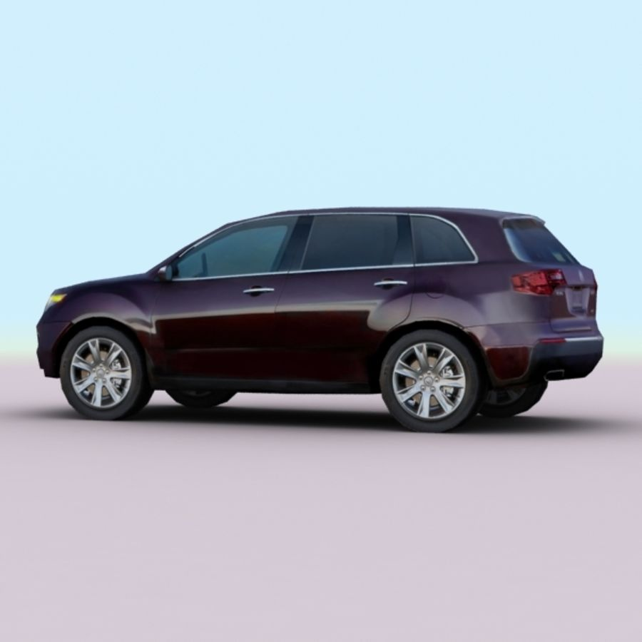 2010 Acura MDX royalty-free 3d model - Preview no. 4