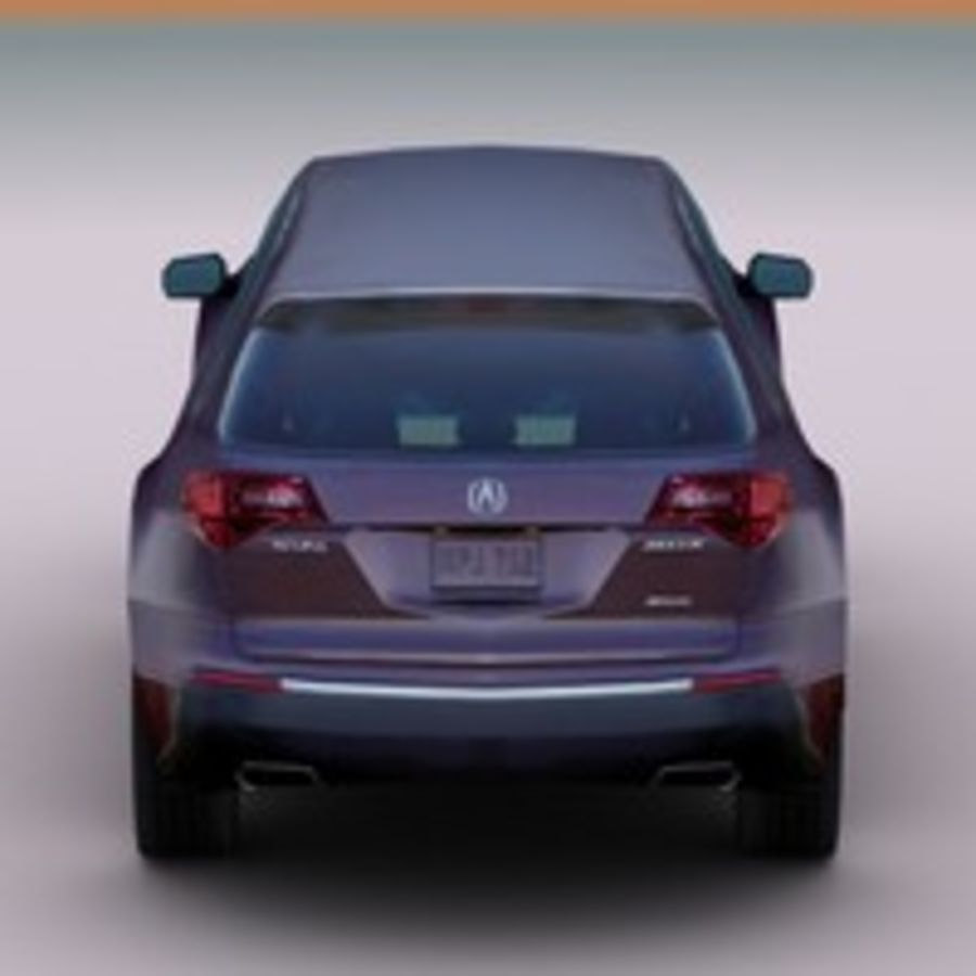 2010 Acura MDX royalty-free 3d model - Preview no. 6