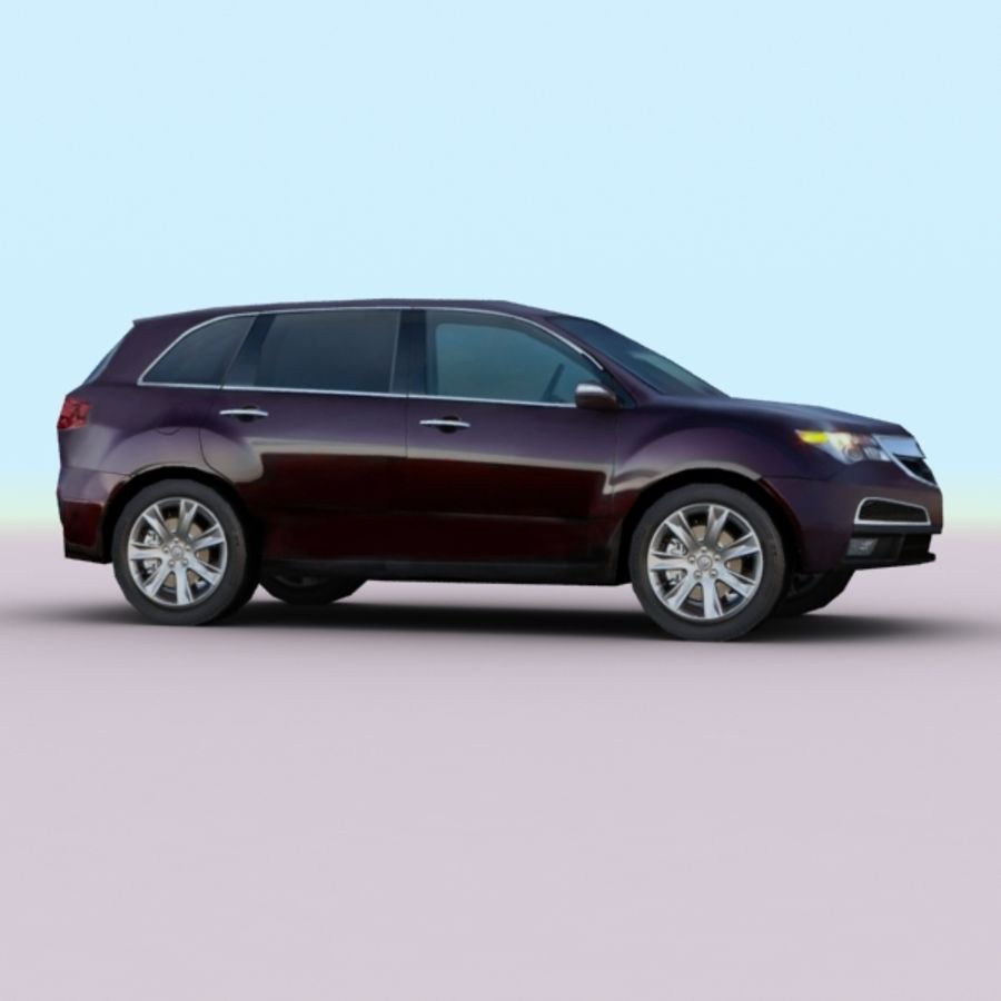 2010 Acura MDX royalty-free 3d model - Preview no. 5