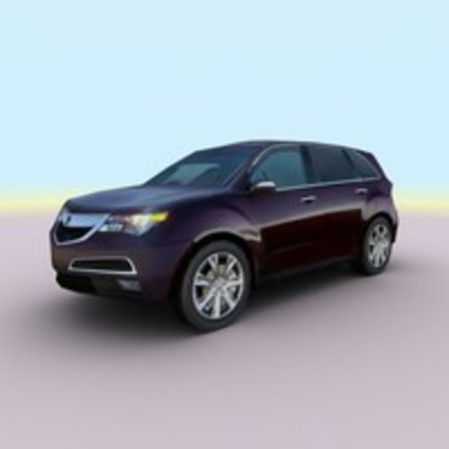 2010 Acura MDX royalty-free 3d model - Preview no. 8