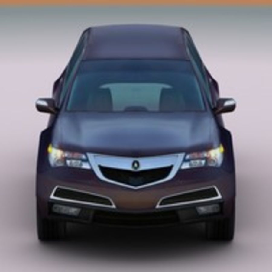 2010 Acura MDX royalty-free 3d model - Preview no. 1