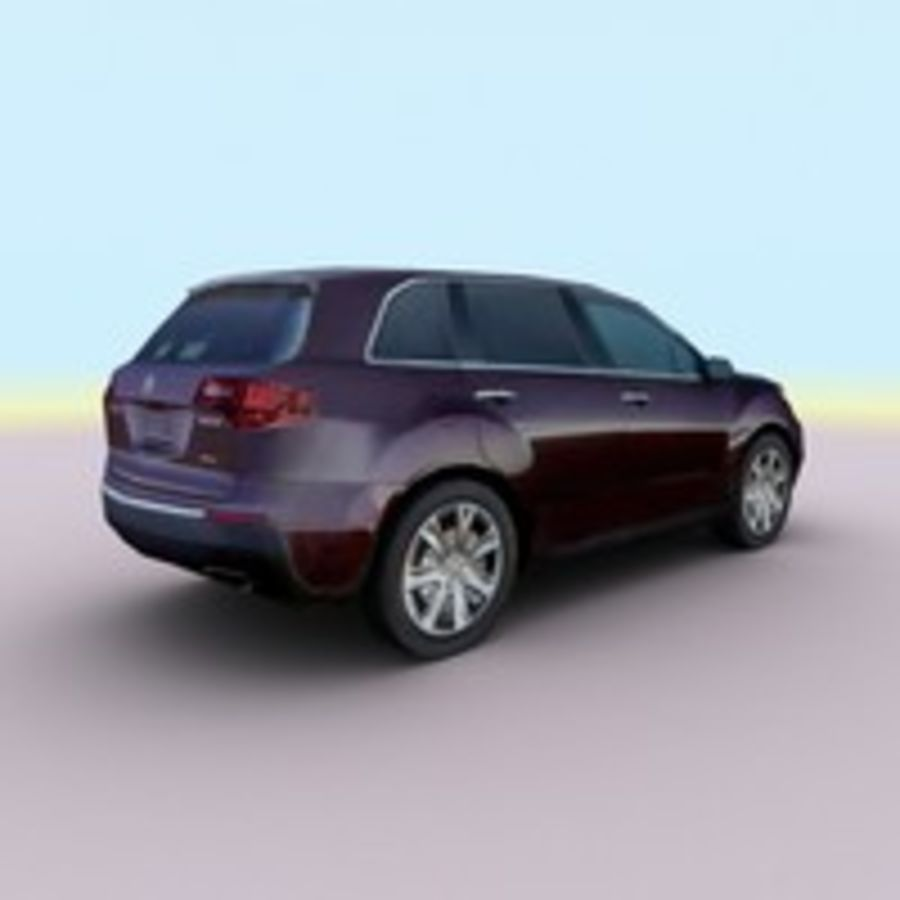 2010 Acura MDX royalty-free 3d model - Preview no. 7
