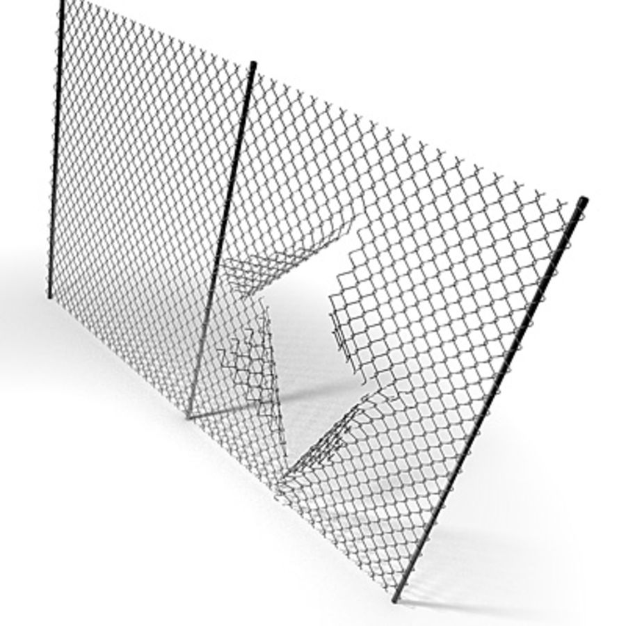 Chainlink Fence Modules royalty-free 3d model - Preview no. 4