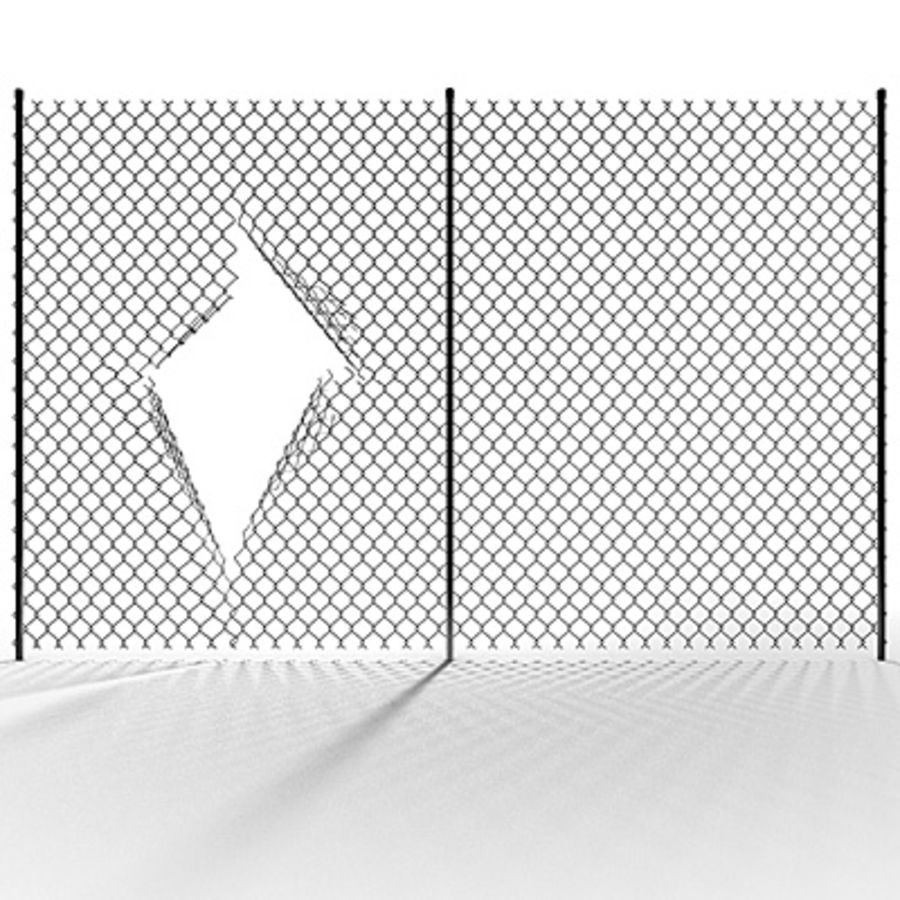 Chainlink Fence Modules royalty-free 3d model - Preview no. 6