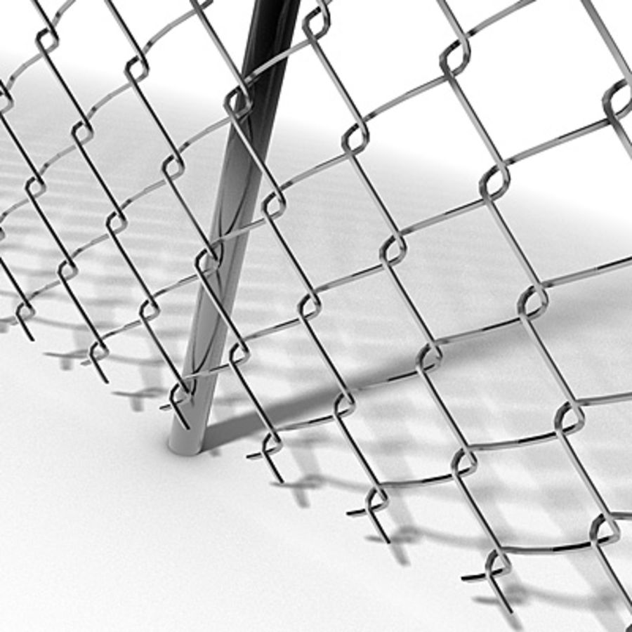 Chainlink Fence Modules royalty-free 3d model - Preview no. 1