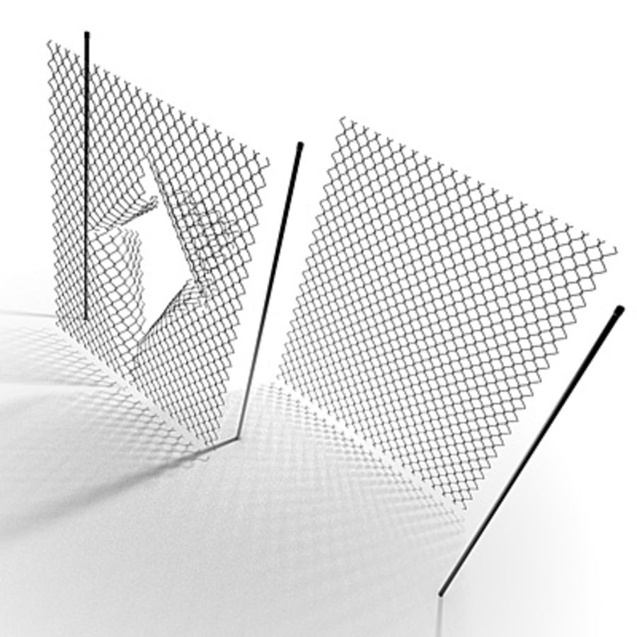 Chainlink Fence Modules royalty-free 3d model - Preview no. 7