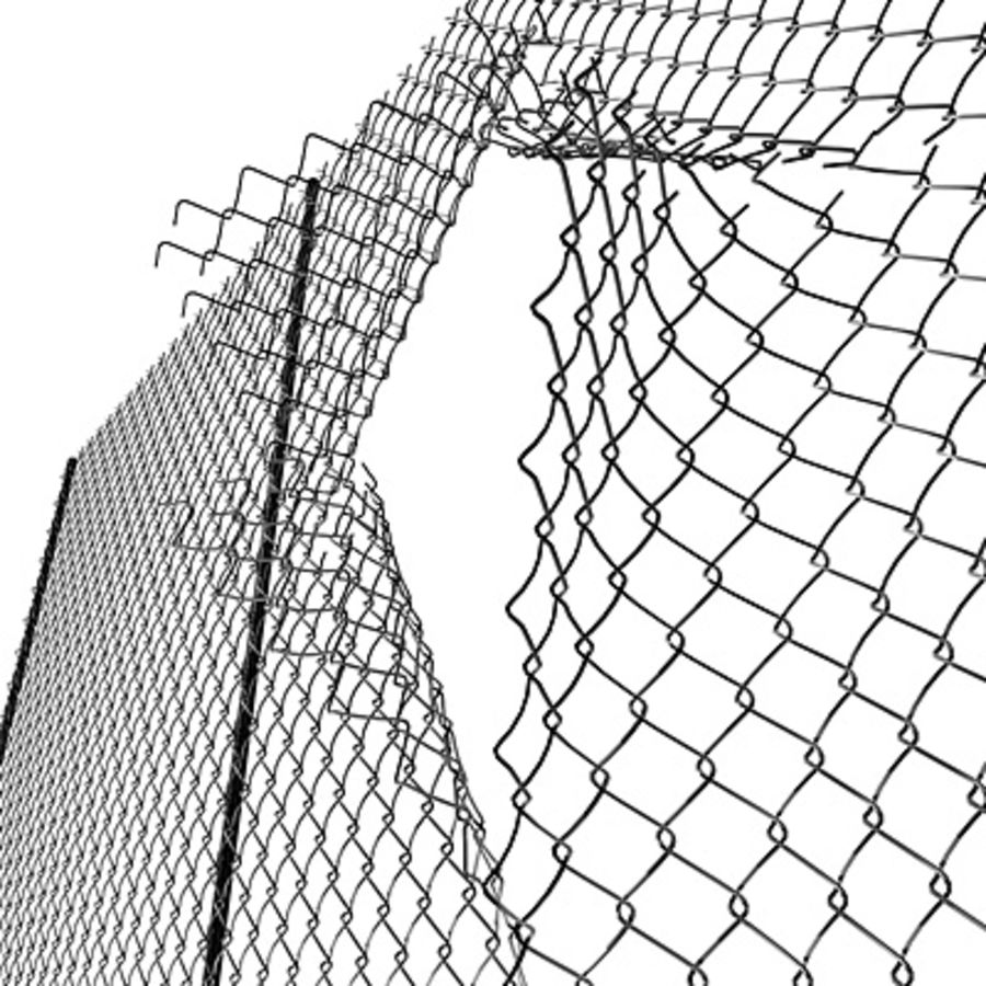 Chainlink Fence Modules royalty-free 3d model - Preview no. 2