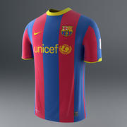 Barcelona Shirt - Soccer Jersey 3d model