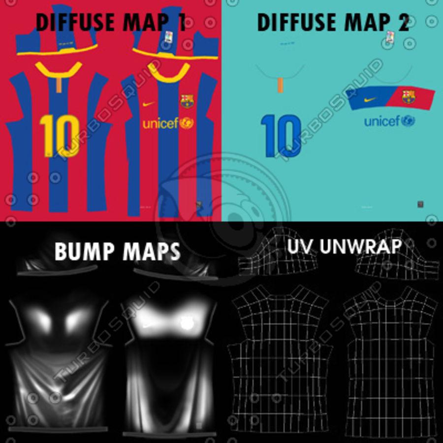 0e8534150 Barcelona Shirt - Soccer Jersey 3D Model  29 - .obj .max .fbx .c4d ...