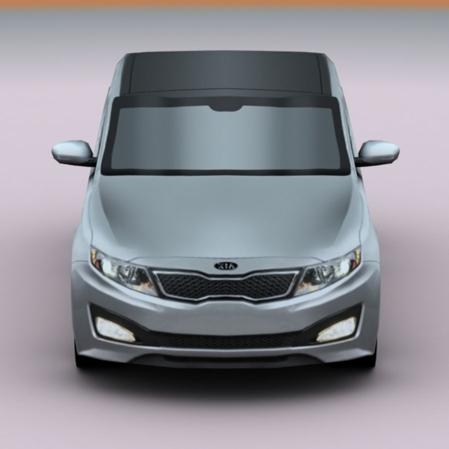 2011 KIA Optima royalty-free 3d model - Preview no. 7