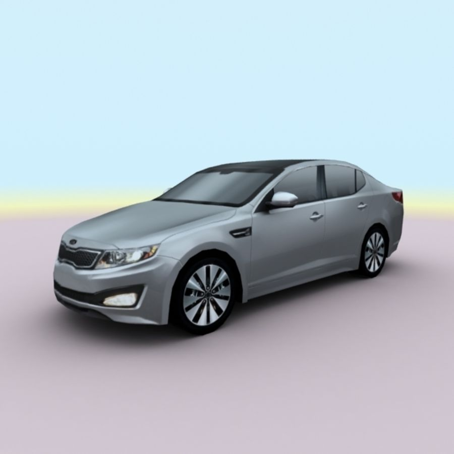 2011 KIA Optima royalty-free 3d model - Preview no. 9