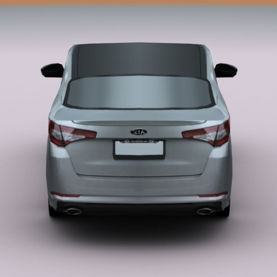 2011 KIA Optima royalty-free 3d model - Preview no. 8