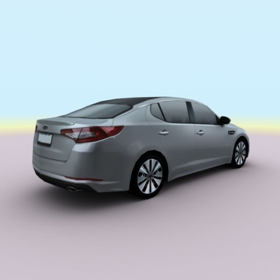 2011 KIA Optima royalty-free 3d model - Preview no. 10