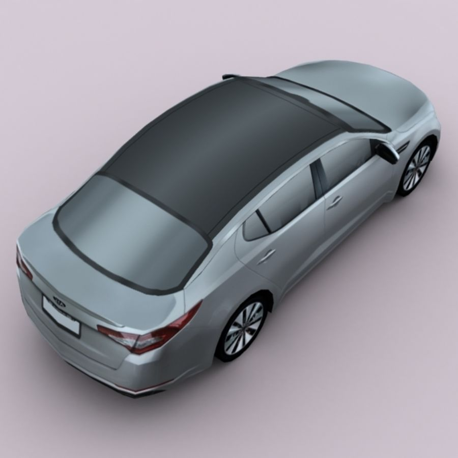2011 KIA Optima royalty-free 3d model - Preview no. 3