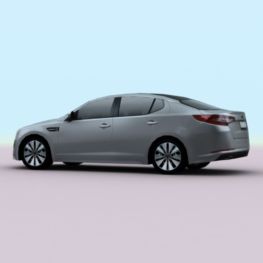 2011 KIA Optima royalty-free 3d model - Preview no. 4