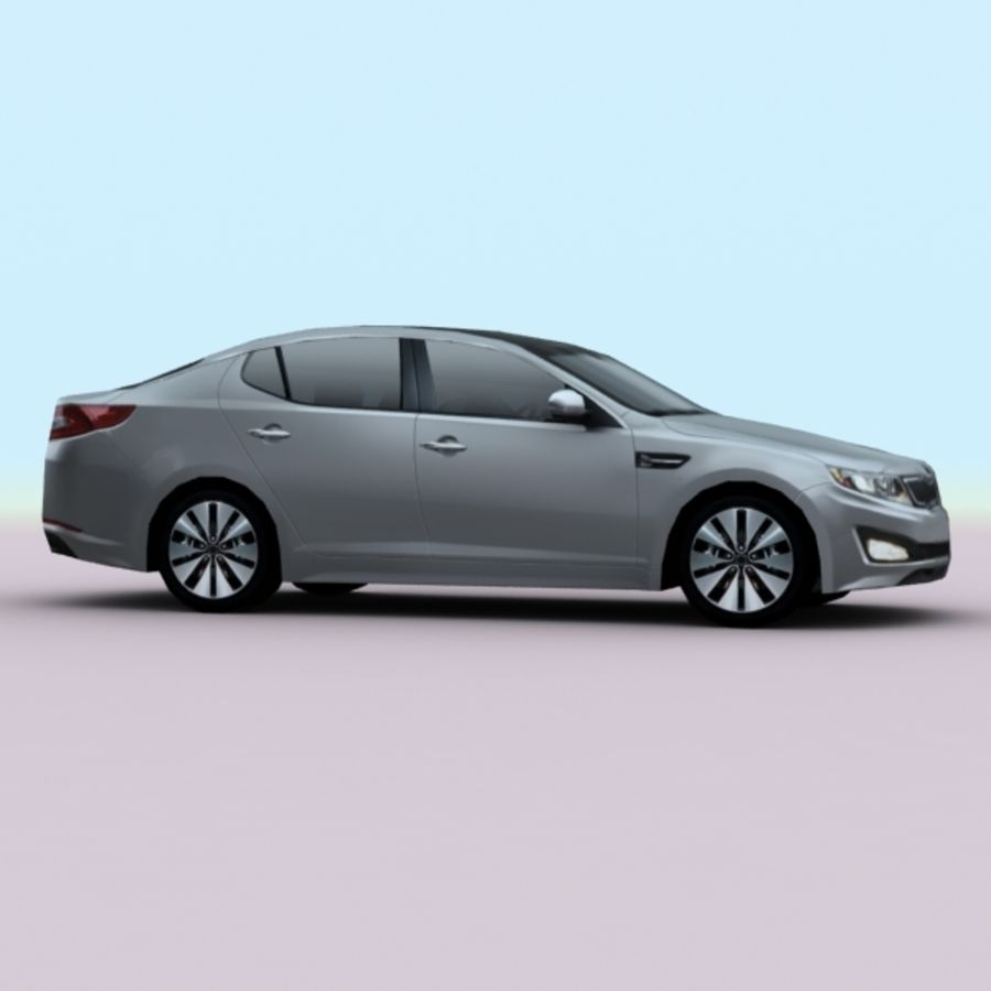2011 KIA Optima royalty-free 3d model - Preview no. 5