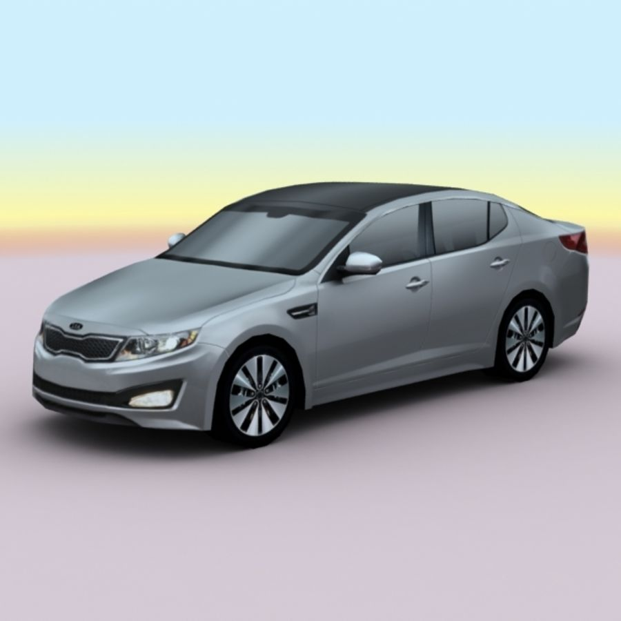 2011 KIA Optima royalty-free 3d model - Preview no. 1