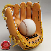 Rękawica baseballowa i podstawka 3d model