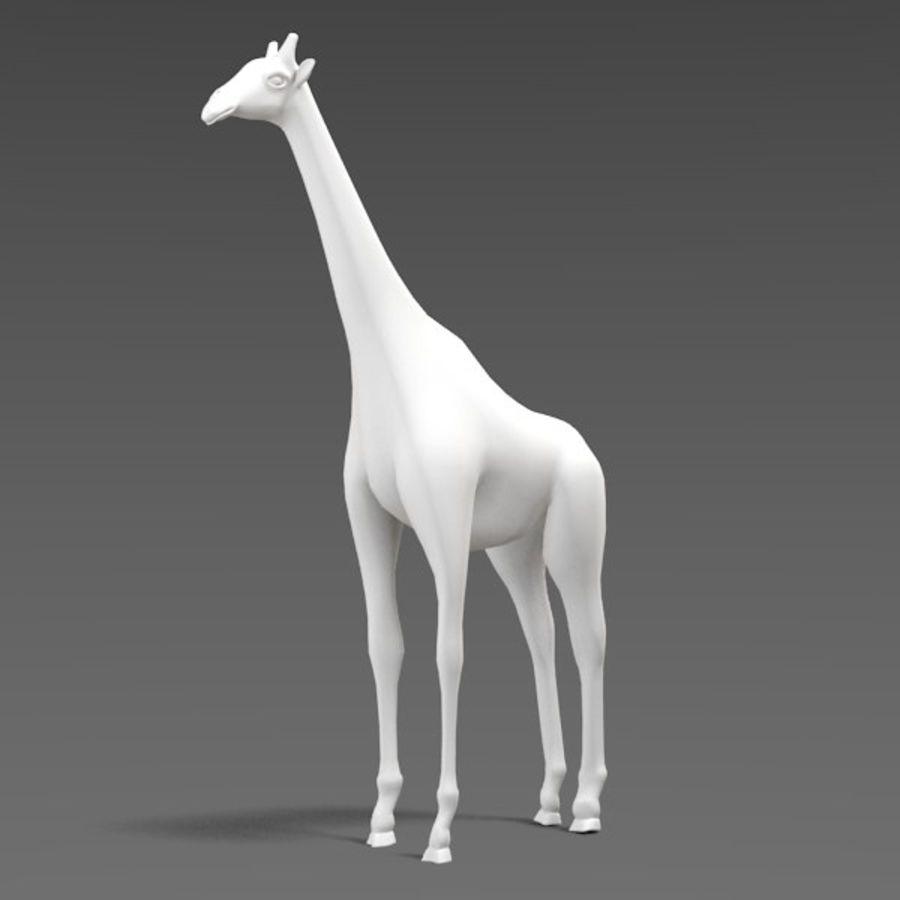 Giraffe royalty-free 3d model - Preview no. 3