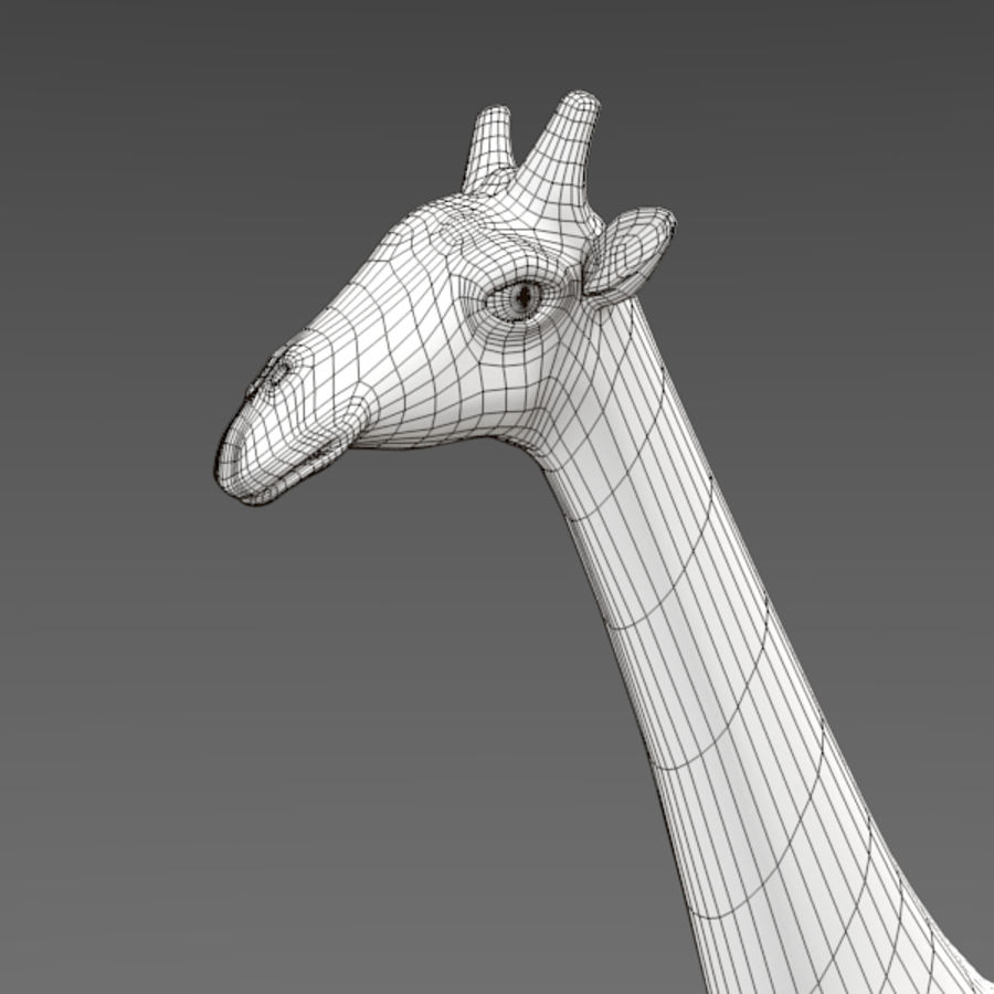 Giraffe royalty-free 3d model - Preview no. 8