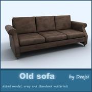 Vieux sofa 1 3d model