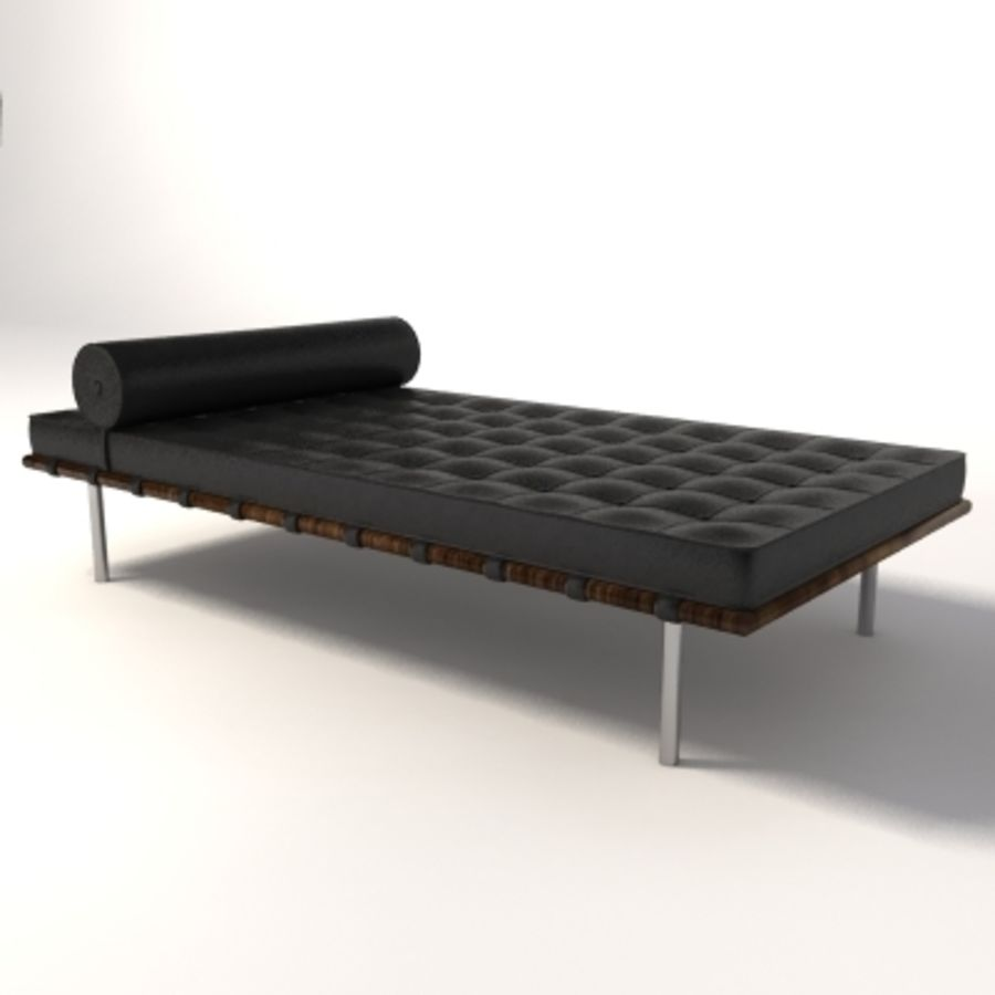 Attraktiv Mies Van Der Rohe Barcelona Day Bed Royalty Free 3d Model   Preview No.