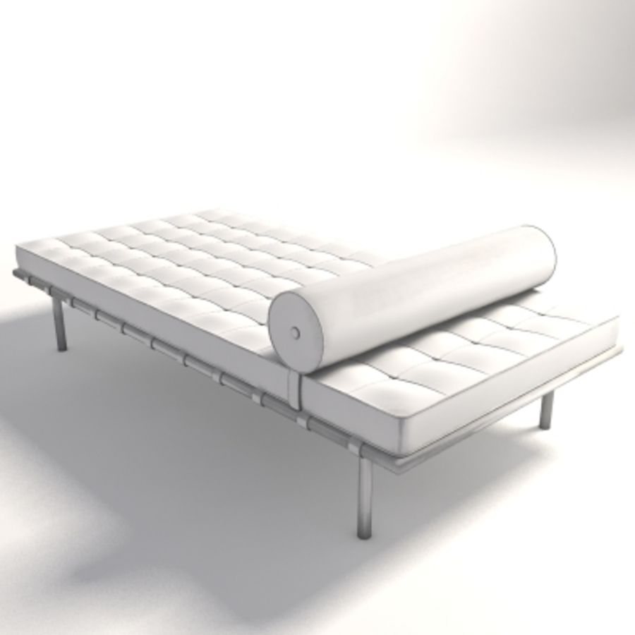 Mies Van Der Rohe Barcelona Day Bed 3d Model 30 Max Xsi Ma