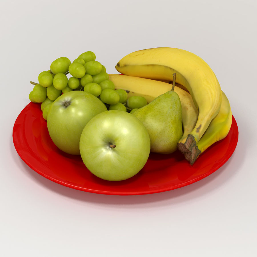 Fruit Plate royalty-free 3d model - Preview no. 4