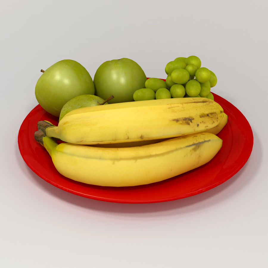 Fruit Plate royalty-free 3d model - Preview no. 3