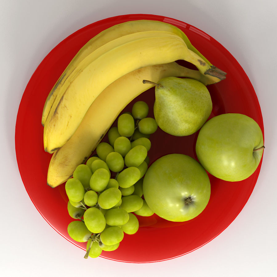 Fruit Plate royalty-free 3d model - Preview no. 6
