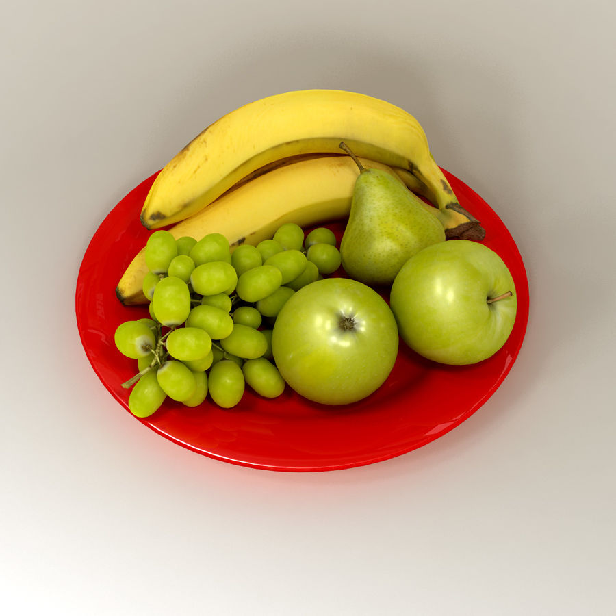 Fruit Plate royalty-free 3d model - Preview no. 2