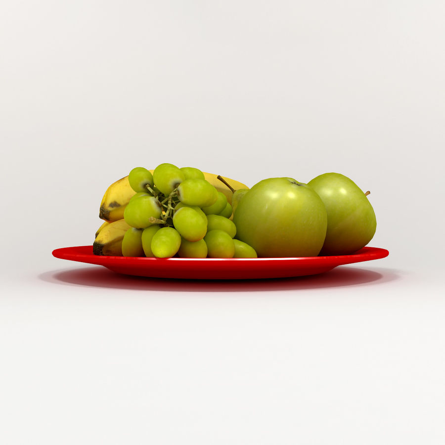 Fruit Plate royalty-free 3d model - Preview no. 5