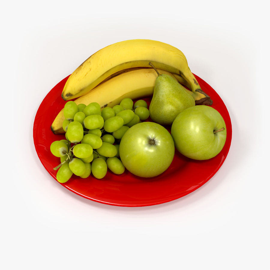 Fruit Plate royalty-free 3d model - Preview no. 1