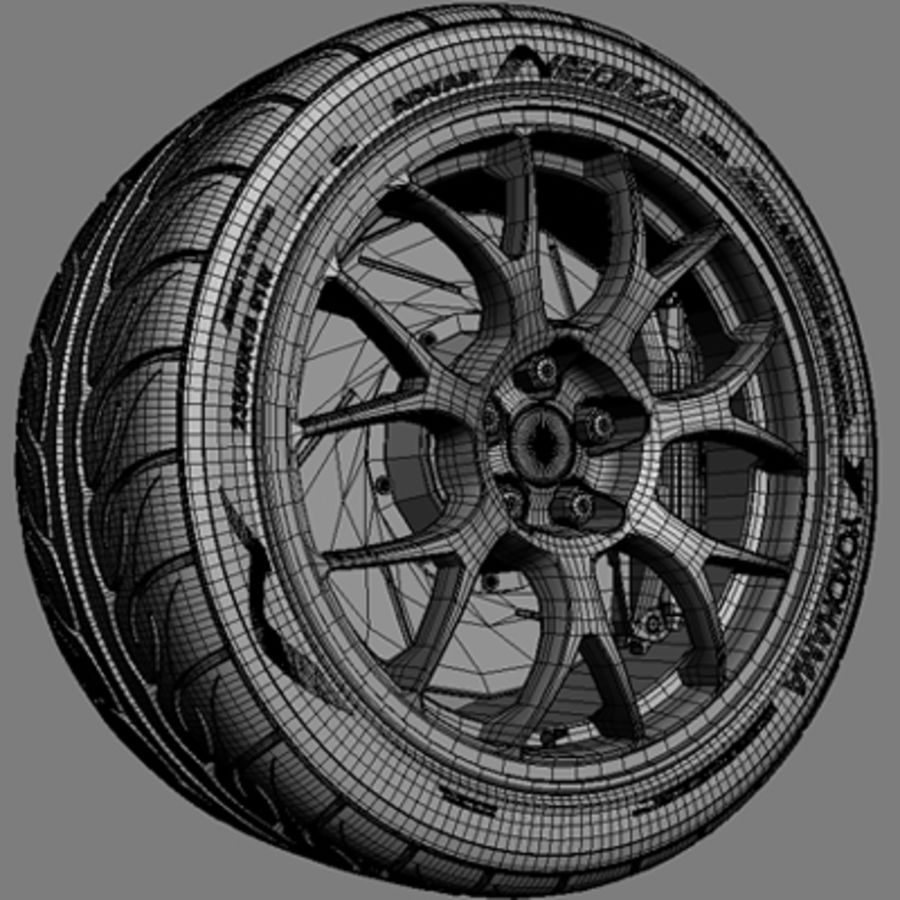 BBS Forged Wheel royalty-free 3d model - Preview no. 5