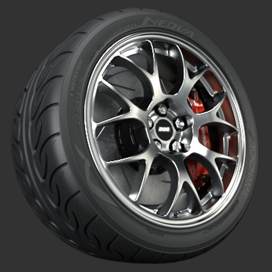 BBS Forged Wheel royalty-free 3d model - Preview no. 1