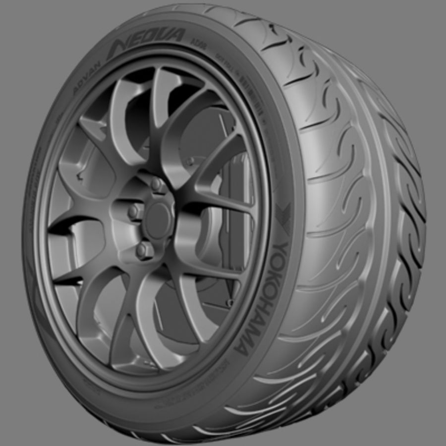 BBS Forged Wheel royalty-free 3d model - Preview no. 4