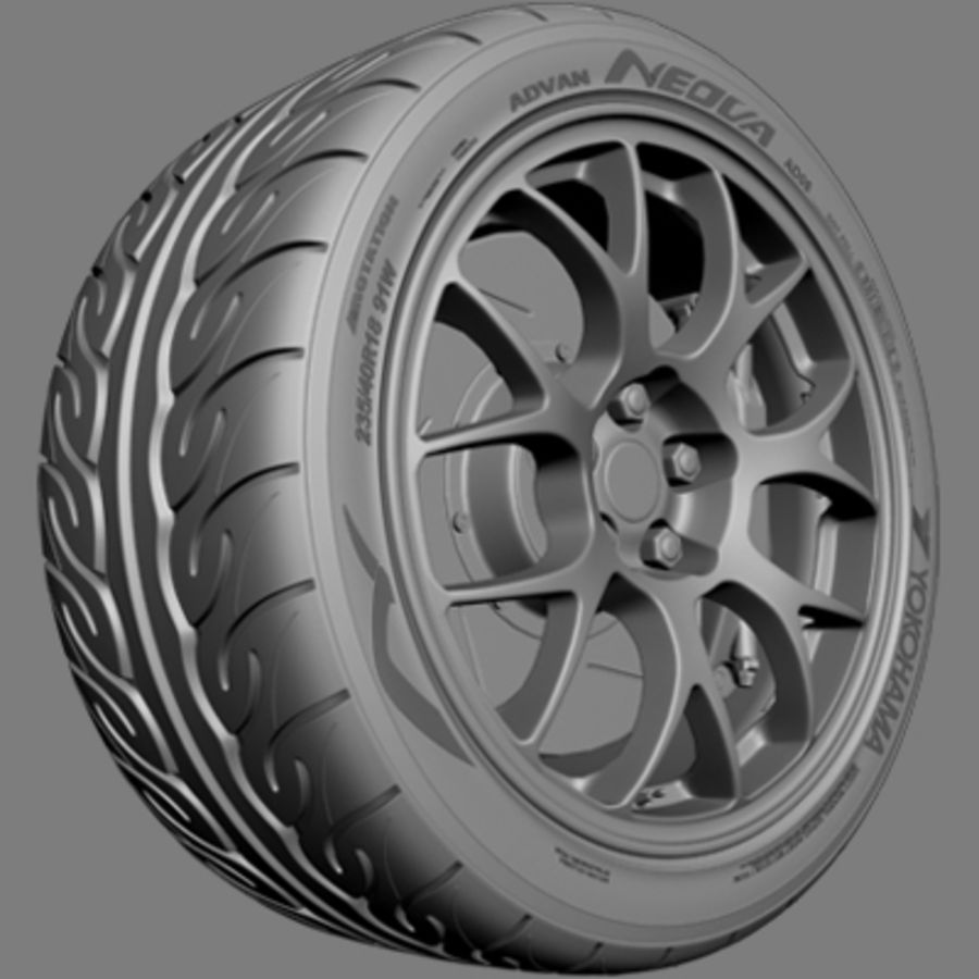 BBS Forged Wheel royalty-free 3d model - Preview no. 3