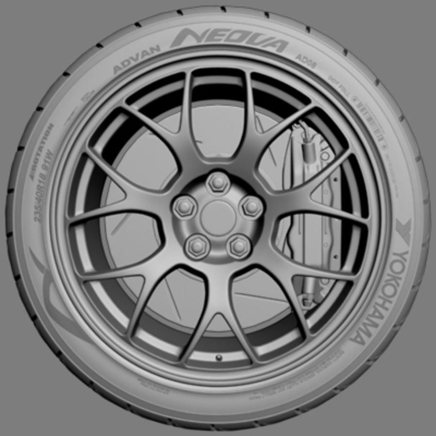 BBS Forged Wheel royalty-free 3d model - Preview no. 2